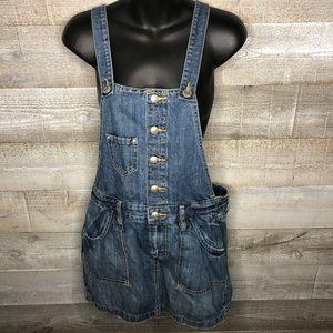 Old Navy ultra low waist overall denim dress